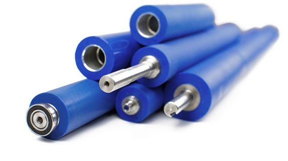 Grouped of various types of replacement rollers
